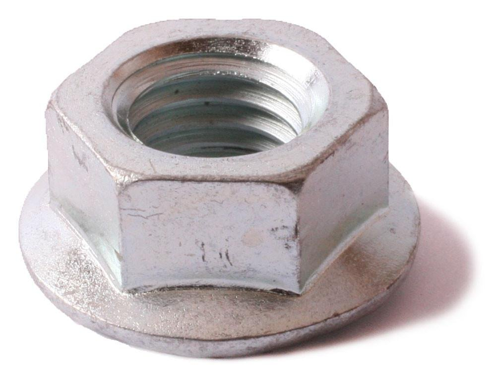 100 5//16-18 Serrated Flange Nut Zinc Plated