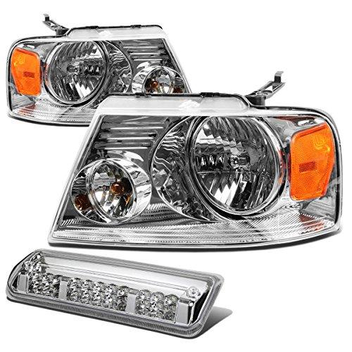 Ford F150 Pair of Chrome Housing Amber Corner Headlight+LED 3rd Brake Light