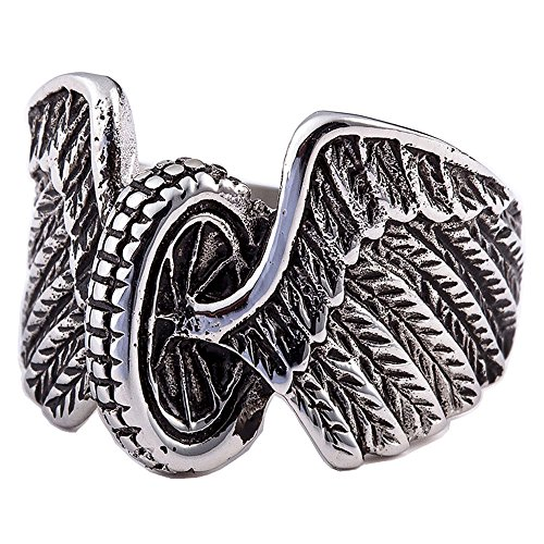 stainless steel biker rings - 9