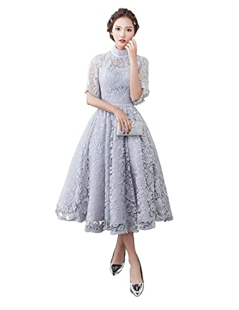 78bd9e509f6a6 ミモレ丈 ドレス 袖あり 二次会 結婚式 パーティードレス ウエディングドレス 結婚式 二次会 パーティー
