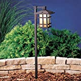 Kichler 15232AGZ Cross Creek Path & Spread 1-Light 120V, Aged Bronze For Sale