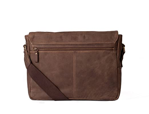5dbdeed651d4 Amazon.com  Navali Mainstay Leather Laptop Messenger Bag - Crazy Horse  Leather - Perfect for 13 inch  15 inch Laptops - Brown  Computers    Accessories
