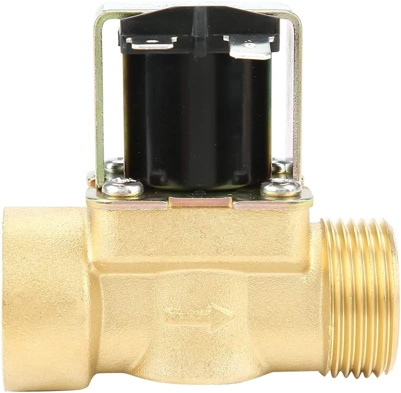 Brass DN20 G3//4 Normal Closed Pilot-operated Water Inlet Electric Solenoid Valve Solenoid Valve