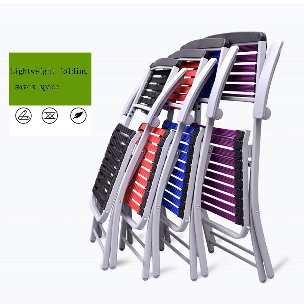 ZZHZY BBGS kontorsstol, hushåll fritid ryggstöd stol bekväm hållbar schackbräda stol hopfällbar stol gummi vävning utomhus studentstol, 4 färger uppgift stol (färg: svart) Röd