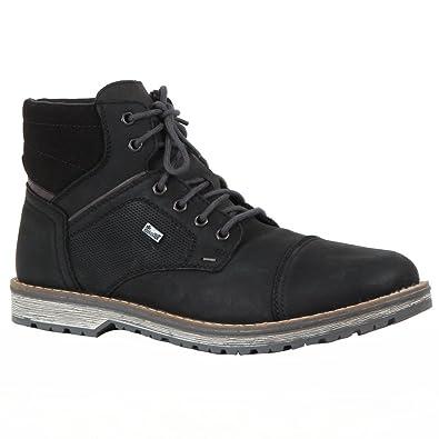 rieker Mens Winter Boots Shoes Black