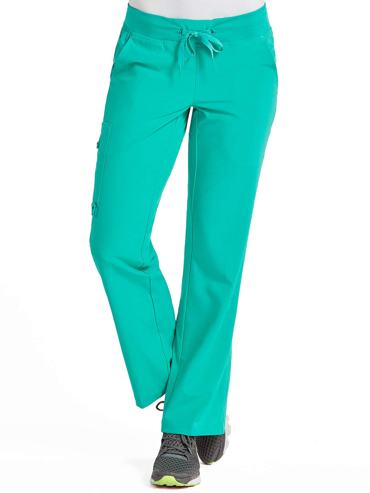 Med Couture Activate Women's Yoga Cargo Pocket Scrub Pant, Medium, Aquamarine by Med Couture