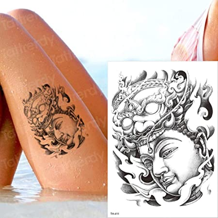 Handaxian 3pcsChino Buda Sentado Tatuaje de Cuerpo de Brazo de ...