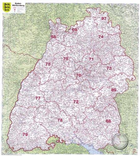 Karte Baden Württemberg Kostenlos.Mit Poster Leisten Baden Württemberg Plz 1 Amazon De S Mile