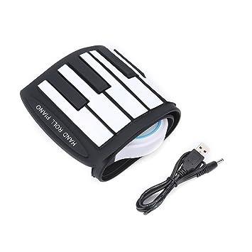 Roll-Up Piano, 37 Teclado Eléctrico Clave Piano Soft Digital Piano Instrumentos Musicales Recargables Juguete para Niños Principiante: Amazon.es: Deportes y ...