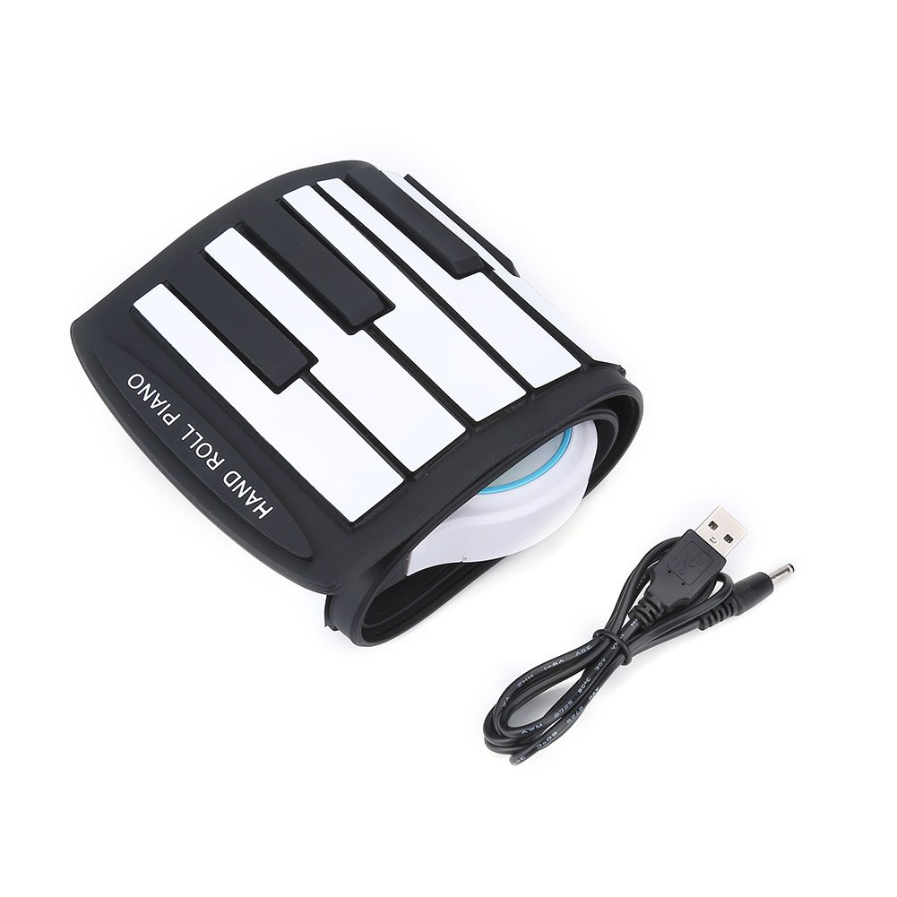 Roll-Up Piano, 37 Key Electric Keyboard Piano Soft Digital Piano Rechargeable Musical Instruments Toy for Kids Children Beginner