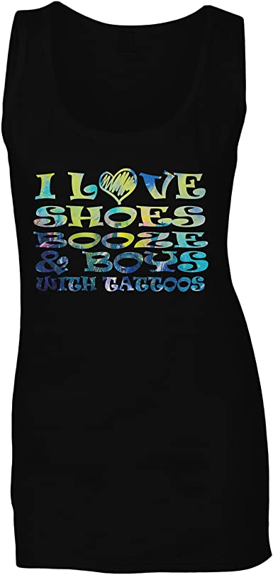 Me encantan los Zapatos Chicos Tatuajes Camiseta sin Mangas ...