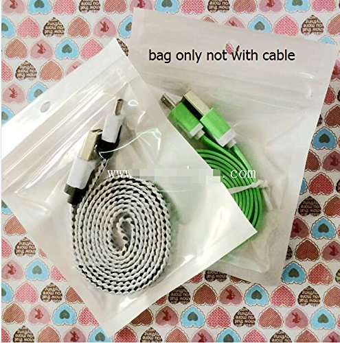 pear white bag front clear zipper lock recloseable poly bags usb cable storage size 8.5 *11CM 100pcs