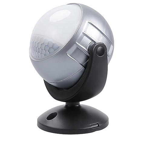 Trípode inalámbrico con sensor de movimiento por infrarrojos con luz LED (funciona con pilas,