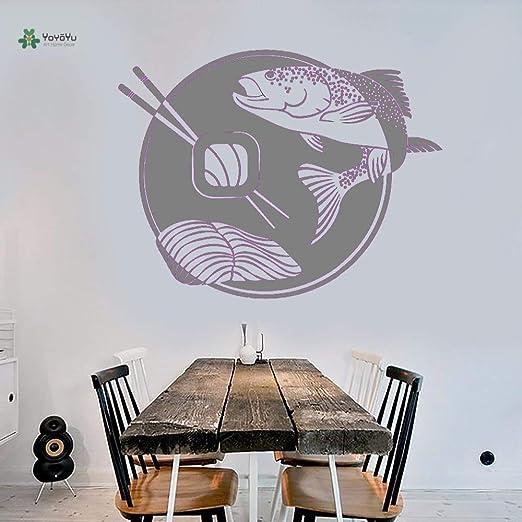 yaoxingfu Vinilo Tatuajes de Pared Palillos de Pescado Sashimi ...