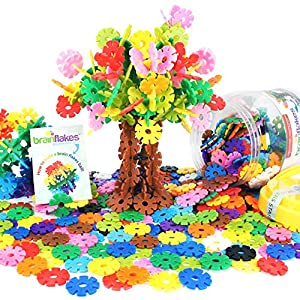 Best Epic Trends 61VHiGWa2eL._SS300_ Brain Flakes 500 Piece Interlocking Plastic Disc Set - A Creative and Educational Alternative to Building Blocks…