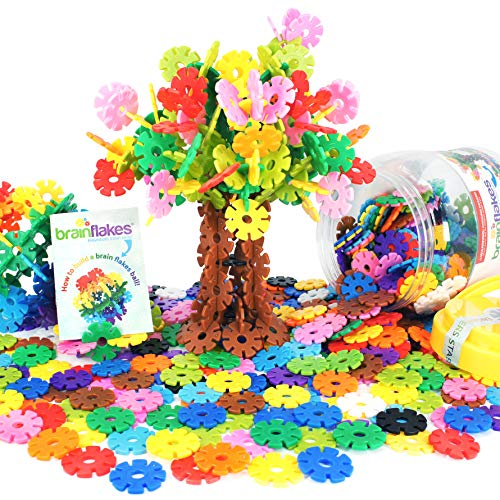VIAHART Brain Flakes 500 Piece Interlocking Plastic Disc Set | A Creative and Educational Alternative to Building Blocks | Tested for Children's Safety | A Great STEM Toy for Both Boys and Girls! ()