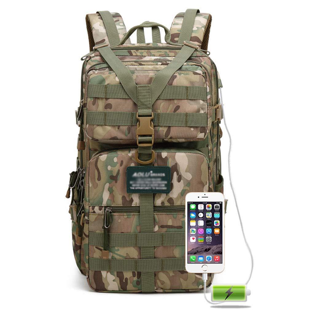 取り外し可能な袋の戦術的なリュックサックの大容量と抵抗力がある屋外の走行のバックパックの通気性の防水破損 (色 : #2) B07S8SZJTH #2