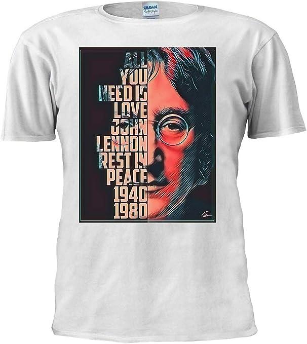 The Beatles Camiseta de John Lennon inspirada en la música de la película Camiseta unisex de moda para hombre