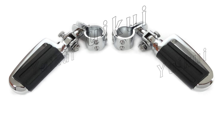YUIKUI RACING オートバイ汎用 1-1/4インチ(32mm)/1インチ(25.4mm)エンジンガードのパイプ径に対応 イーグル男性マウントハイウェイフットペグ タンデムペグ ステップ KAWASAKI MEAN STREAK (all MODELE) All years等適用   B07PX1PGRK
