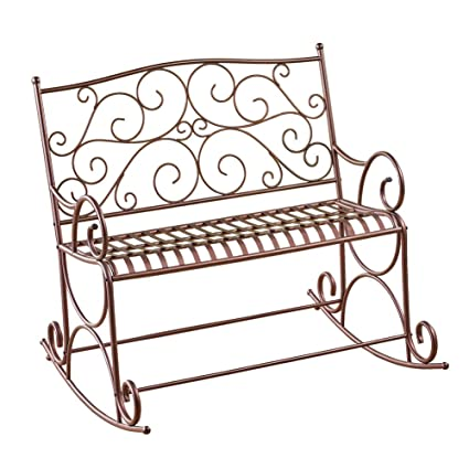 Fine Amazon Com Jur Global Outdoor Metal Scroll Double Rocking Caraccident5 Cool Chair Designs And Ideas Caraccident5Info
