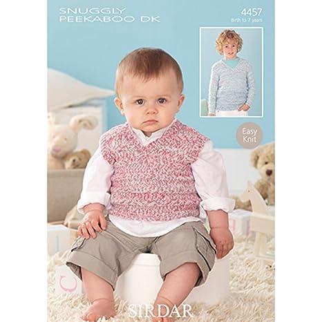 Amazon Sirdar Snuggly Peekaboo Dk Sweater And Tank Top Knitting