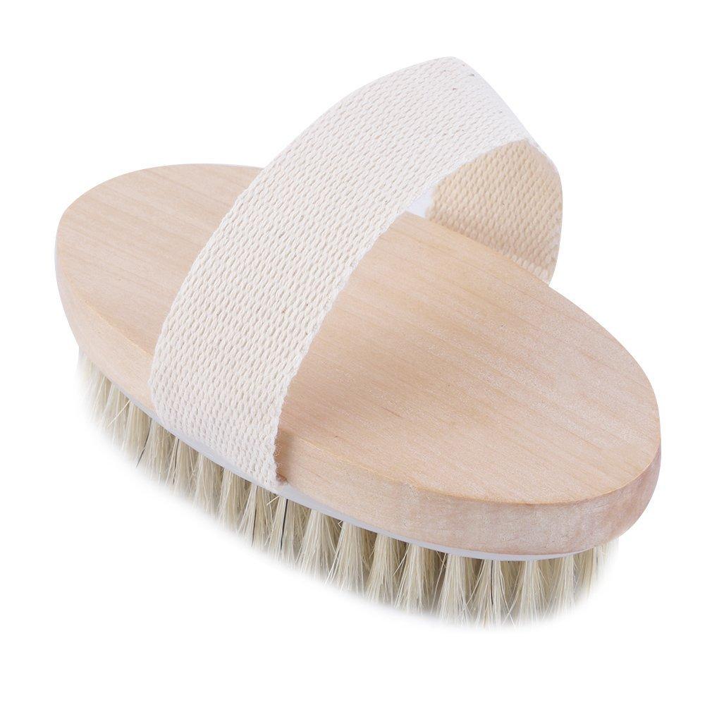 Aiming Pelle secca Natural Body setole spazzola morbida SPA spazzola da bagno Massaggiatore casa