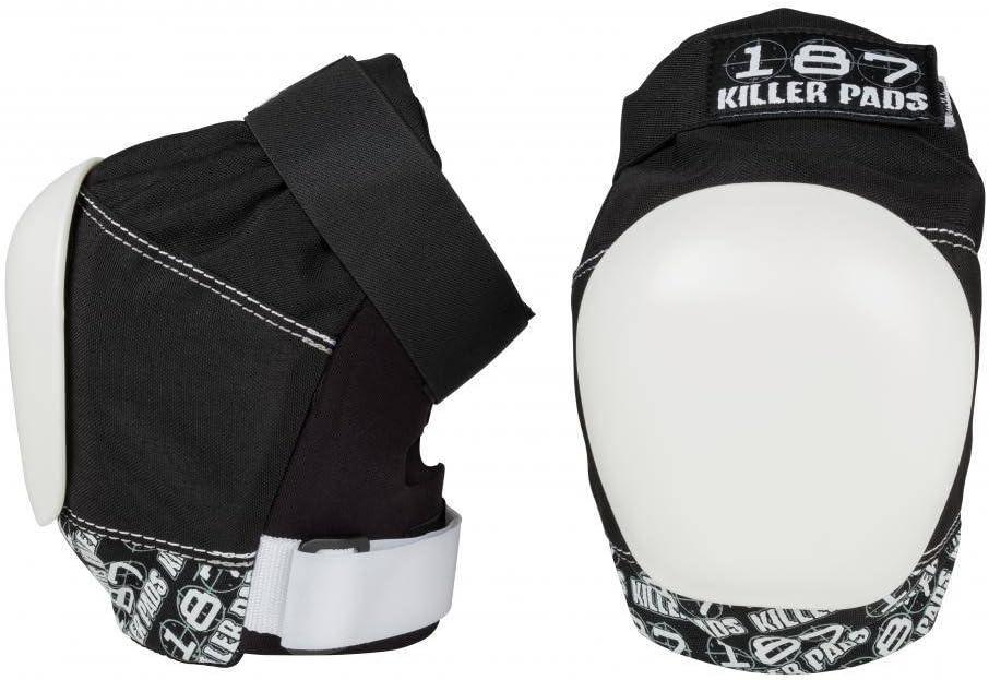 187 Killer Pads Pro Knee Pad, Black / White, Medium : Sports & Outdoors