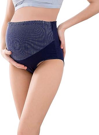 WISREMT - Bragas de algodón para Embarazadas con Cintura Alta y ...