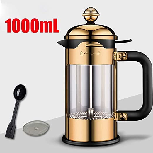 WXH Actualice French Press Coffee Maker, Cafetera Acero Inoxidable ...