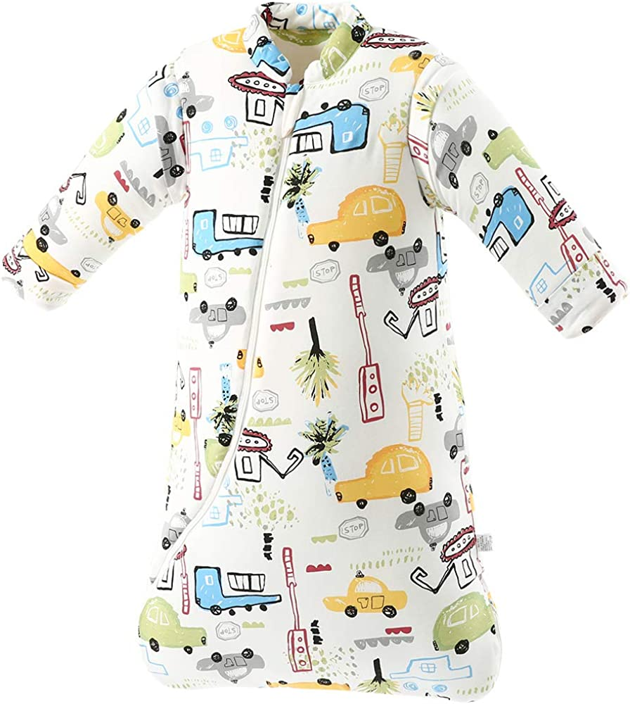 Winter 100/% Cotton Long Sleeve Babay Wearable Blanket Dearup Sleepsack