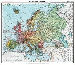 Karte Uk.Historische Karte Europa Um 1910 Plano Carl Flemmings