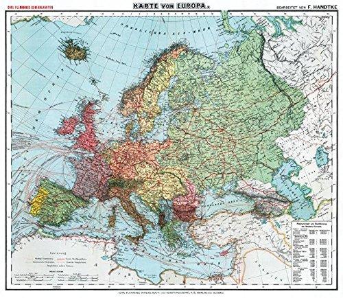 Historsiche Karte: Europa, um 1910 (Plano)
