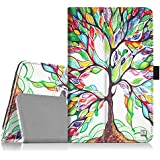 "Fintie Ellipsis 8 HD Case (2016 Release) - PU Leather Stand Cover with Auto Sleep/Wake Feature for 8"" Verizon Ellipsis 8 HD (QTASUN1G/QTASUN1B)/GizmoTab (QTASUN2) Tablet, Love Tree"