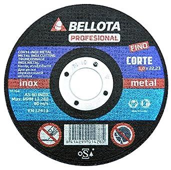 Bellota 50310-125 - DISCO ABR. PROF.C.INOX 125: Amazon.es: Industria, empresas y ciencia