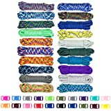 West Coast Paracord Zesty 550lb Survival Paracord Random Combo Crafting Kit by 10 Colors of 500lb Cord & 10 FREE buckles - Type III Paracord - Make 10 Paracord bracelets-Great Gift