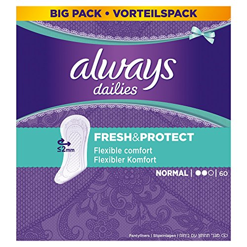 Always Dailies Fresh and Protect Normal Panty Liners Pads - Pack of 60