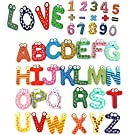 Eucute® 26+10+5pcs Colorful Funny Wooden Refrigerator Magnetic Alphabet A-Z Letters & Numbers & Operational Sign Preschool Toddler Toy Perfect for Children to Learn and Spell Words