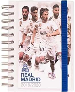 Agenda escolar 2019/2020 semana vista Real Madrid: Amazon.es ...