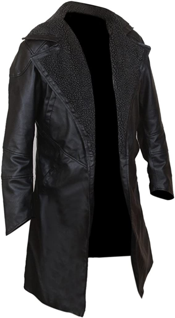 Flesh /& Hide F/&H Mens Runner Open Front Coat with Faux Fur Lined Collar
