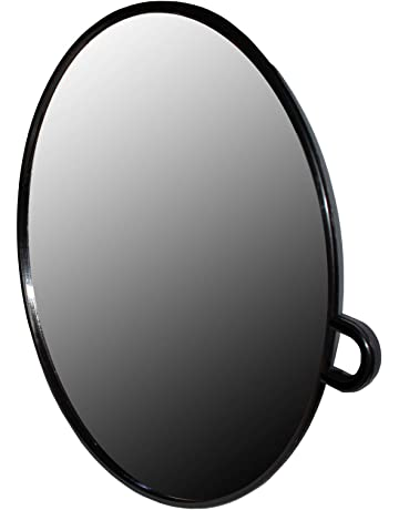 Espejo Negro Redondo para Salón de Belleza - Espejo Ligero Portátil - Espejo Profesional Estilistas -