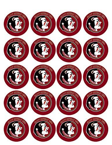 Florida State Seminoles - Edible Cupcake Toppers - 1.8