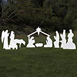 Outdoor Nativity Store Complete Outdoor Nativity Set (Life-size, White)