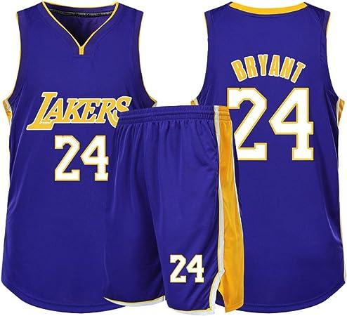 Kobe Lakers Mamba # 24 Hombres Baloncesto Jersey Respiración ...
