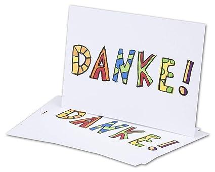 Neuser 150 tarjetas de agradecimiento con sobre blanco DIN ...