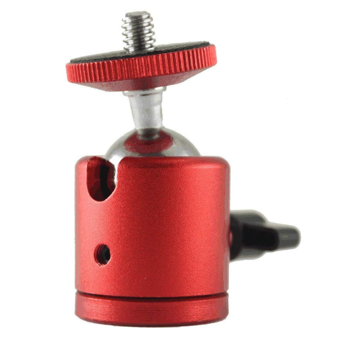 EXMAX® 1/4'' Screw 360 Degree Swivel Tripod Camera Mount Adapter Ballhead for DSLR Camera Camcorder LED Light Bracket Blue