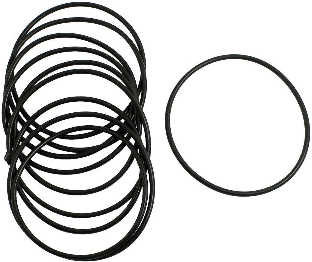 RETYLY 10 Stueck Schwarz Gummi Oil Seal O-Ringe Dichtungen Unterlegscheiben 65x60x2.5mm