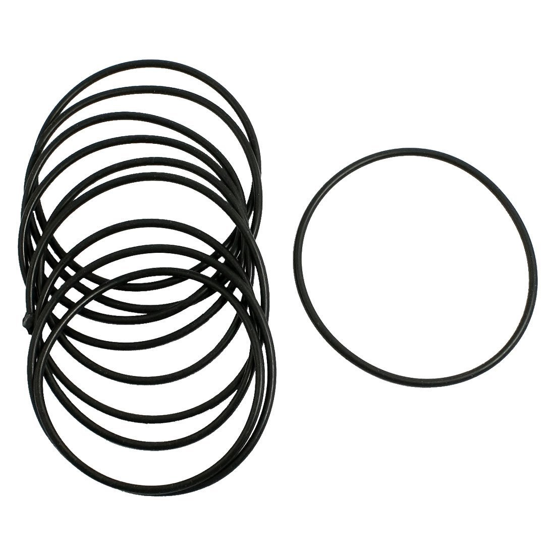 SODIAL O-Ring Dichtung Unterlegscheiben R 10 Stueck Schwarz Gummi Oil Seal O-Ringe Dichtungen Unterlegscheiben 30x25x2.5mm