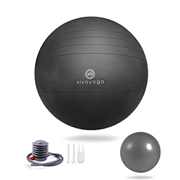 RedSwing Exercise Ball, (55-75cm) Extra Thick Yoga Ball, Anti-Burst Heavy Duty Stability Ball with Quick Pump, Great for Yoga, Pilates, Birthing and ...