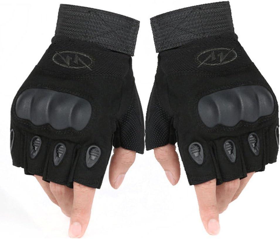 Warring States/® Outdoor Tactical Gloves Semi de Dedos de Carbon Fiber Tortoise Shell Slip Resistant Gloves Military Combat