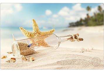 matches21 Set de mesa Espacio Juego de verano diseño botella Post & Estrella de mar en
